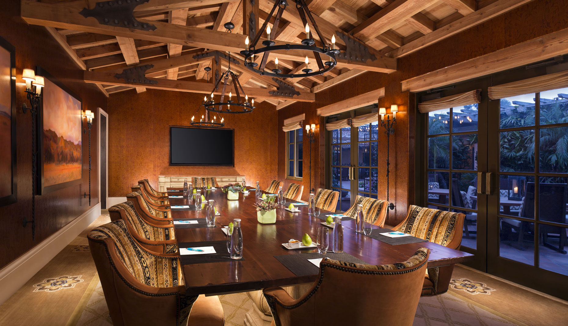 Rancho Valencia Resort and spa Boardroom